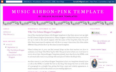 Three Column Layout from Deluxe Blogger Template