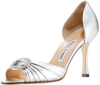 Kitten Heel Ivory Satin Wedding Shoes