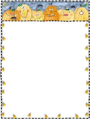 Printable Halloween Theme Stationery
