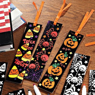 Colorful Printable Halloween Bookmarks Printable Halloween Bookmarks