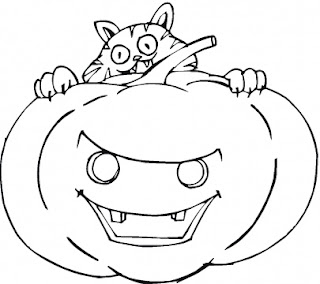 free halloween printable on pumpkin