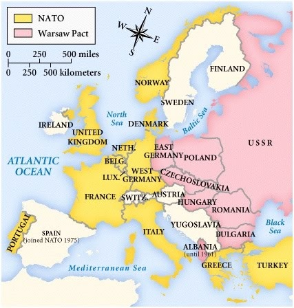 map and counters spi nato 1973
