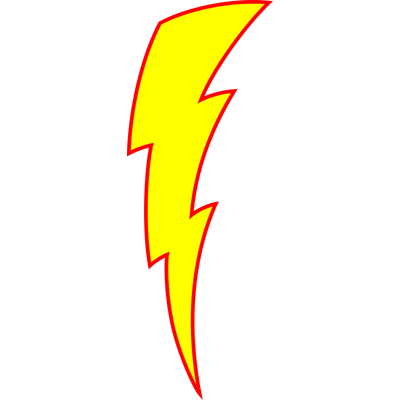 how to draw a lightening bolt