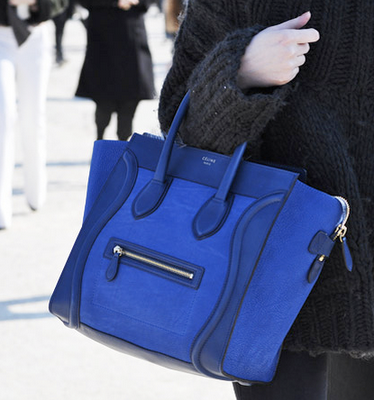 Royal Blue Lambskin Luggage bag