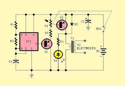 muscular bio stimulator circuit schematic free with explanation rh alectronicscircuits blogspot com