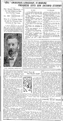 "Page F30: 1911 newspaper - ""Ido, universal language, is making ..."