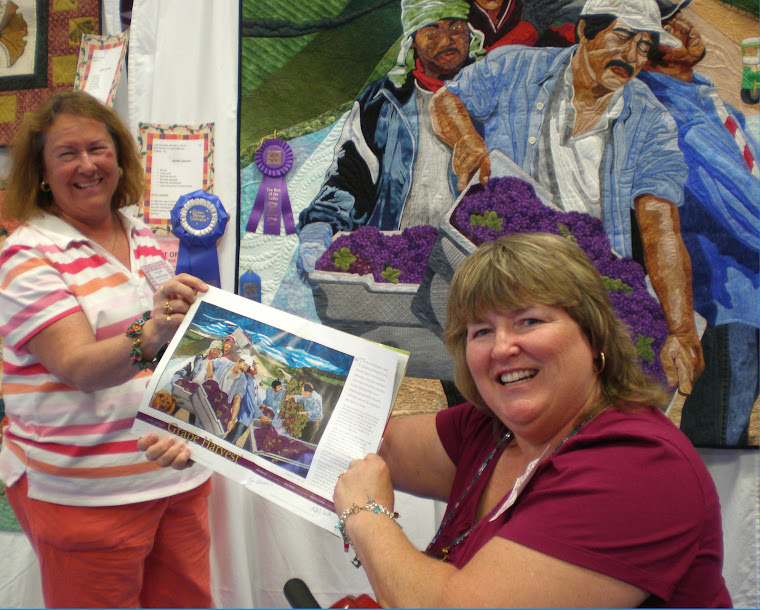 Grape Harvest in Quilting Arts Magazine