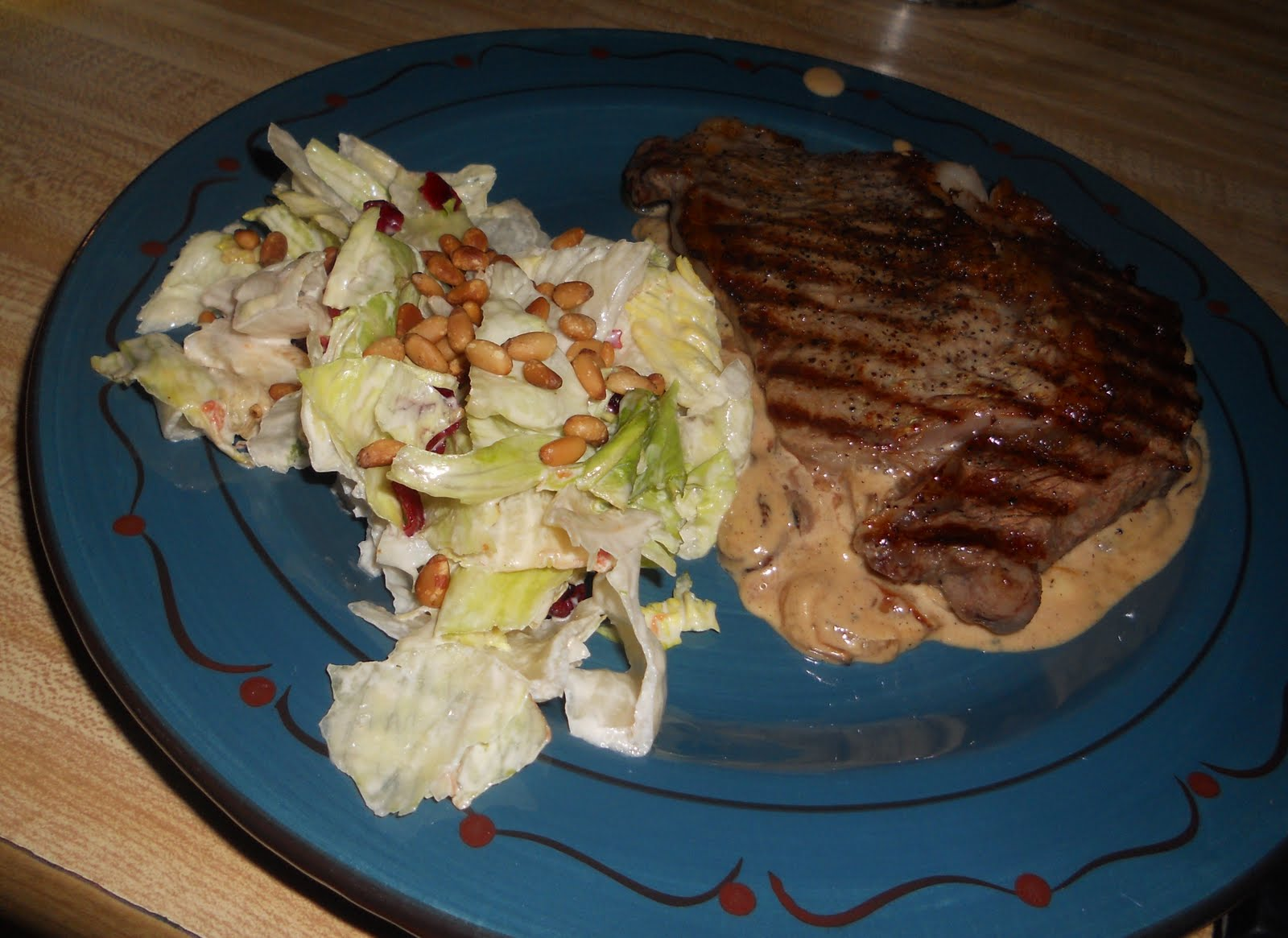 Urban Momma: Ribeye Steaks with Onion-Blue Cheese Sauce