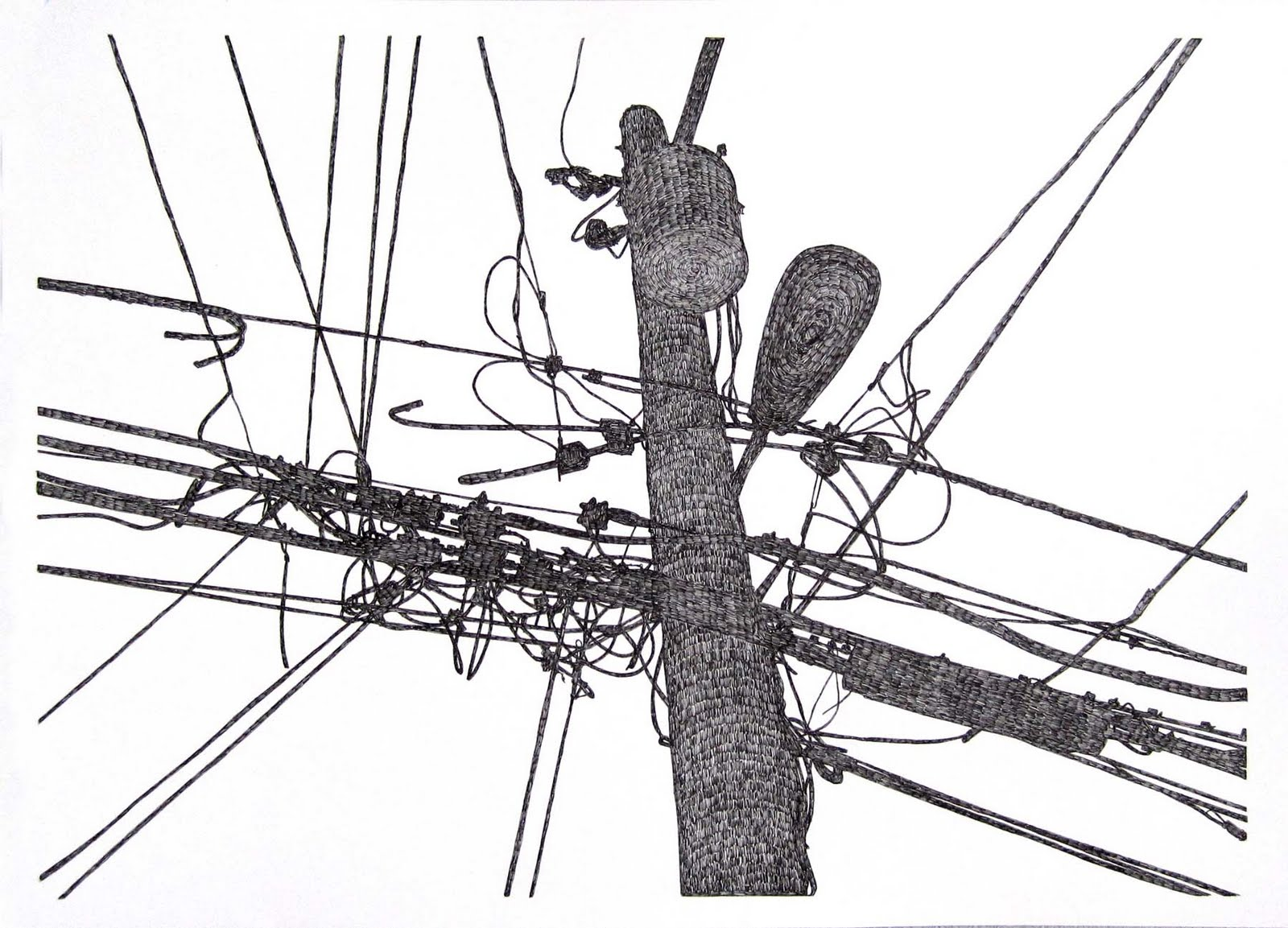 of the telephone pole in