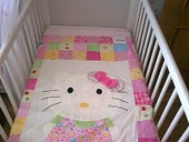 colcha cunita de hello kitty