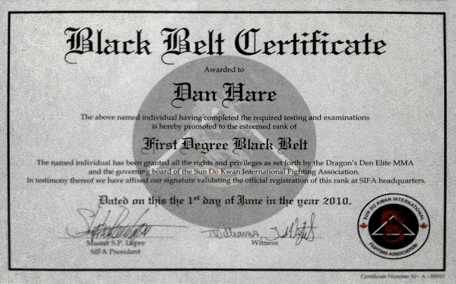 Taekwondo black belt certificate template pictures to pin for Black belt certificate template