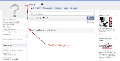 Customize Facebook Group