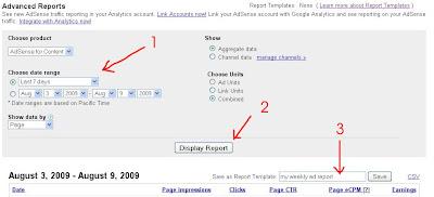 goolge adsense report via email