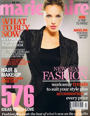 Angelina Jolie en la Portada de Marie Claire Australia (Marzo 2010)