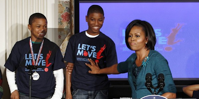 Michelle Obama lanza una campaña contra la obesidad infantil