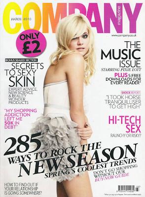 Pixie Lott en la portada de Company UK (Marzo 2010)