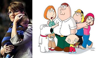 Sarah Palin llama a los creadores de Family Guy imbéciles sin corazón