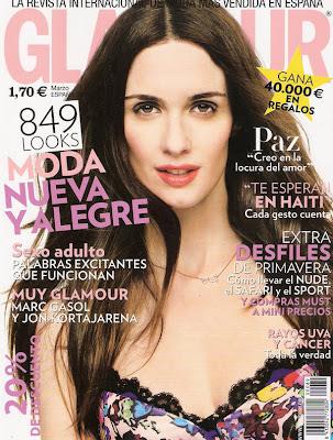 Paz Vega en la Revista Glamour España (Marzo 2010)