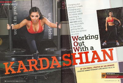Kim Kardashian en Muscle & Fitness Hers Magazine (Julio/Agosto 2009)