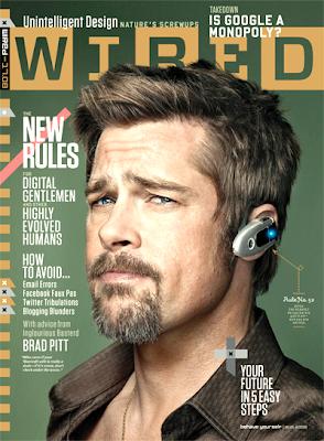 Brad Pitt en la portada de Wired Magazine (Agosto 2009)