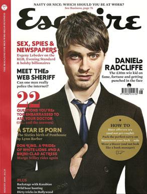 Daniel Radcliffe en la Portada de Esquire UK Magazine (Agosto 2009)