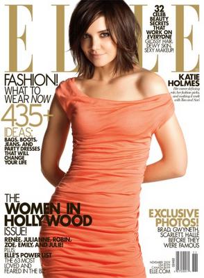 Katie Holmes en la portada de Elle Noviembre 2009