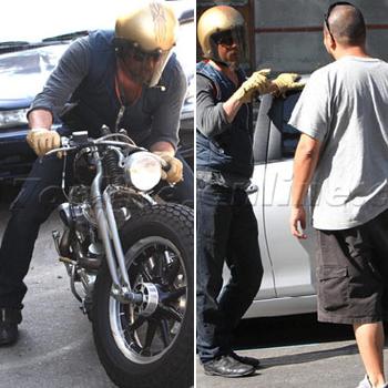 Brad Pitt sufrió un accidente de motocicleta