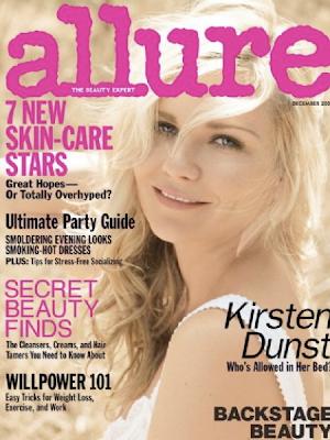 Kirsten Dunst en la portada de Allure (Diciembre 2009)