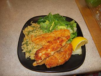 You Want Me to Cook?: Chicken Milanese with Spring Greens ...