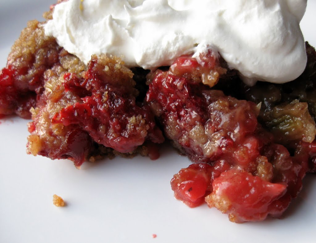 Strawberry Rhubarb Crisp Recipe — Dishmaps