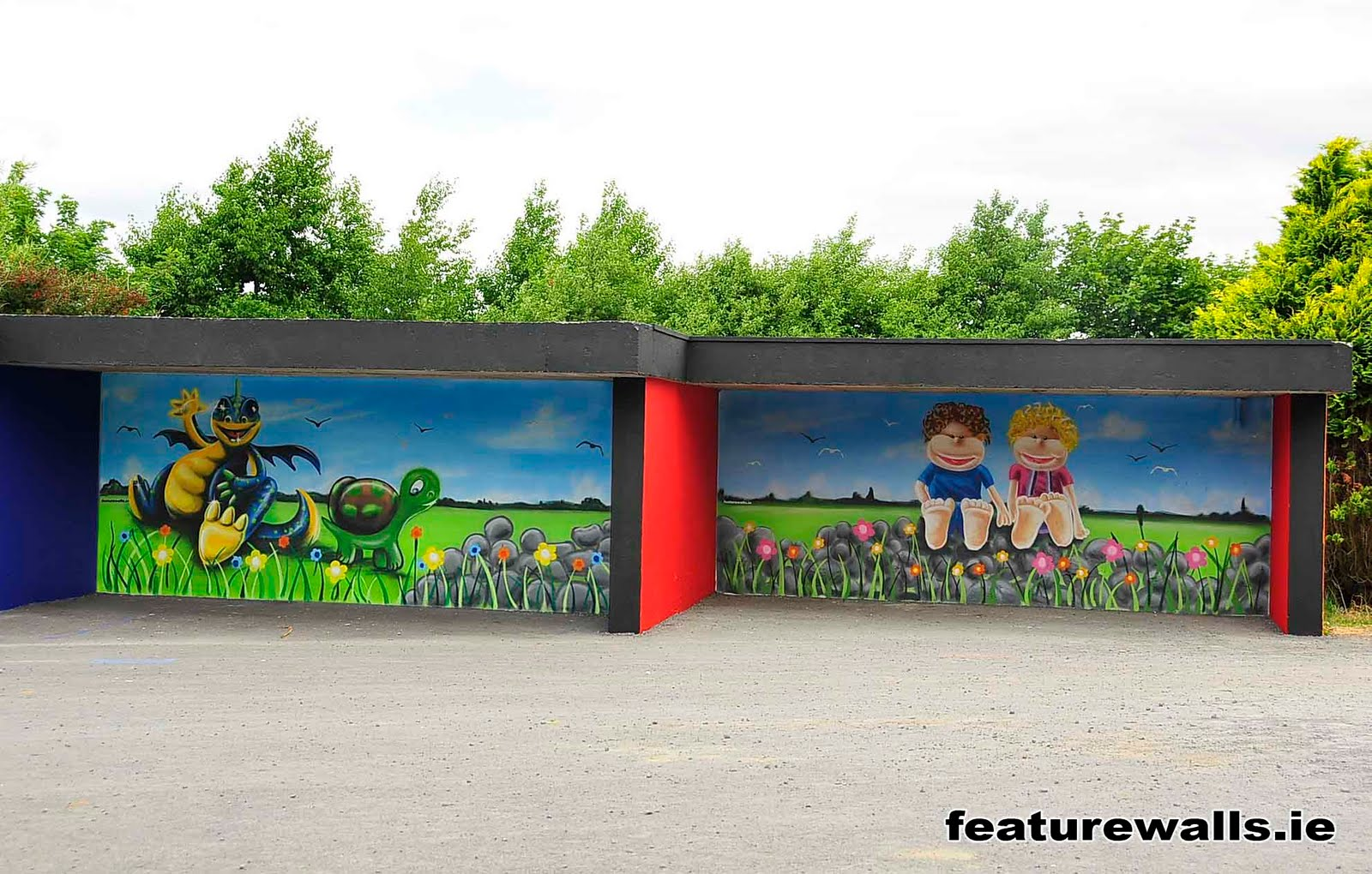 Mural painting professionals featurwalls for Airbrushed mural
