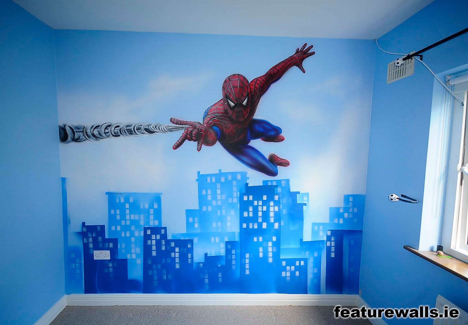 kids bedroom painting ideas spiderman mural for boy 39 s room