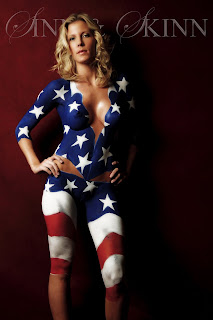 The Best American Flag Body Painting