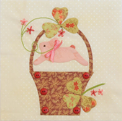 Hooper Creek Thumper HPC160 Bunny Rabbit Quilt Wall Hanging