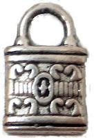 Abalorio metal colgante candado