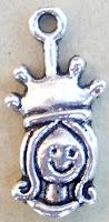Abalorio metal colgante reina