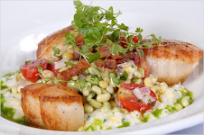 Scallops w/ Corn Risotto