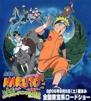 Assistir Naruto O Filme 3: A Revolta dos Animais da Lua Crescente Legendado