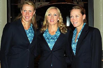 Alicia Molik, Anastasia Rodionova and Samantha Stosur