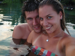 Jurgen Melzer and Dominika Cibulkova in the Maldives