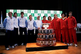 Spain and Argentina's Davis Cup teams