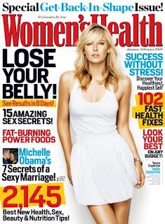 Maria Sharapova Women's Health magazine