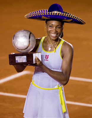 Venus Williams in a silly hat