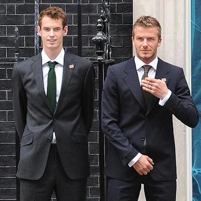 Andy Murray and David Beckham