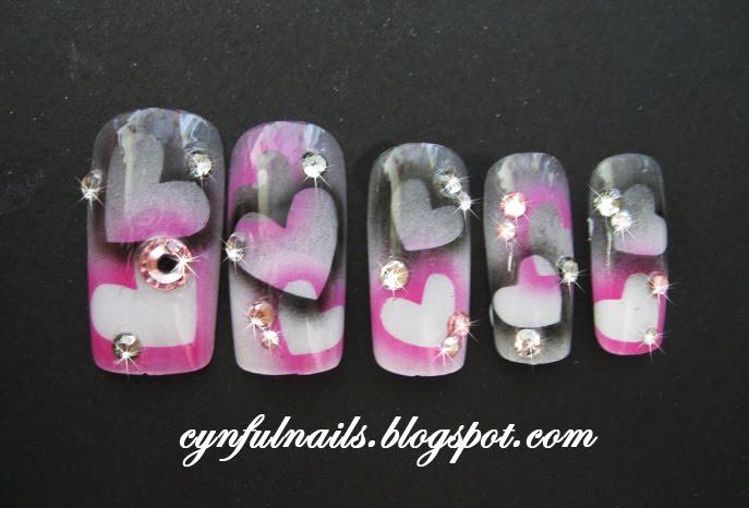 Cynful Nails Airbrushed Nails