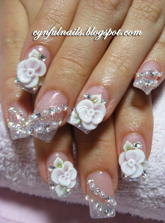 Cynful Nails: Bridal nails..