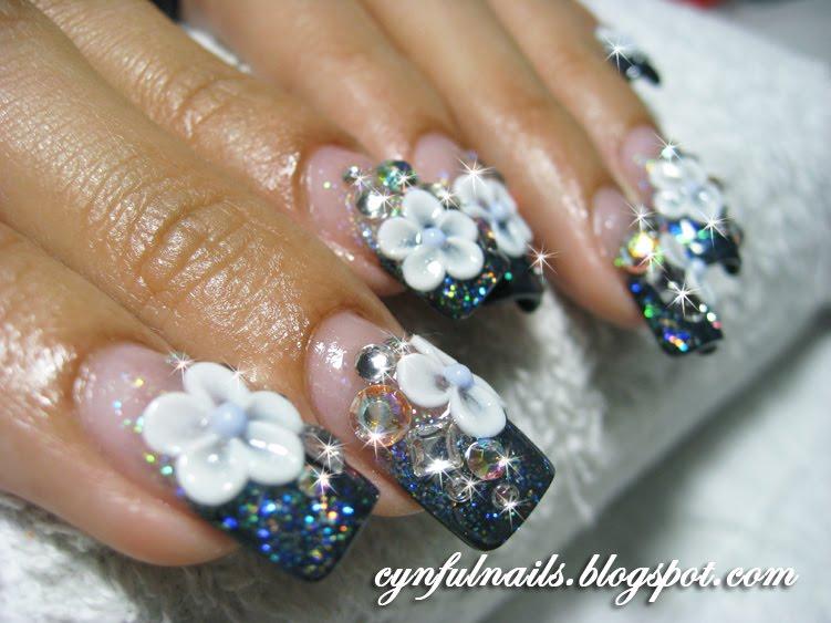 Wonderful Black Acrylic Nails with Glitter 751 x 563 · 71 kB · jpeg