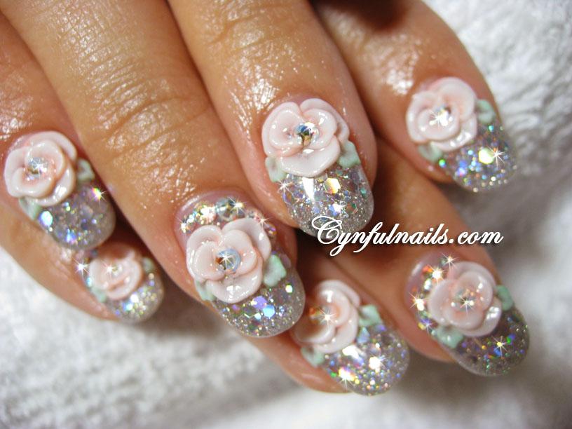 Cynful Nails: Bridal gel nails.
