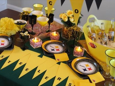 Steelers football party