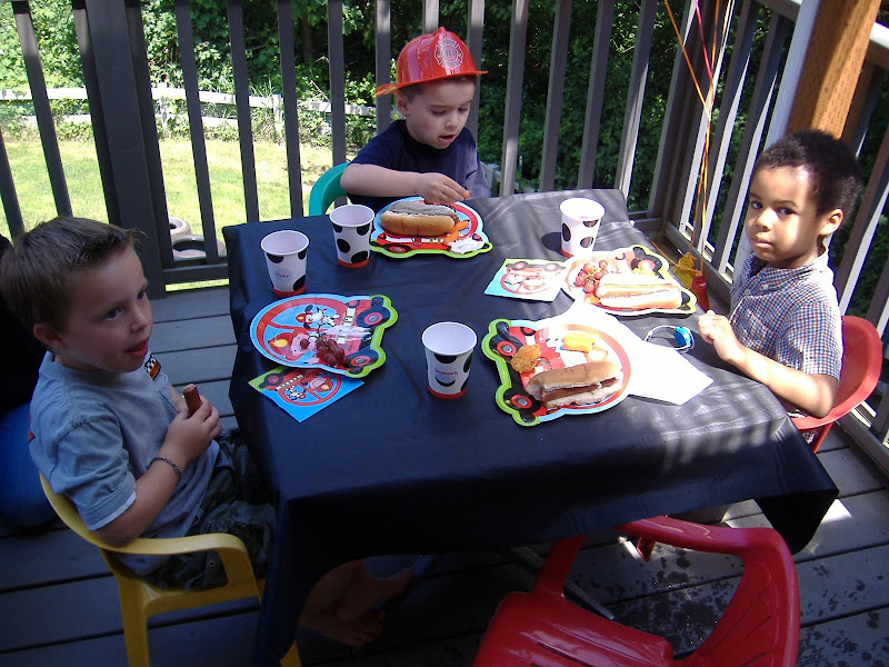 firetruck party lunch